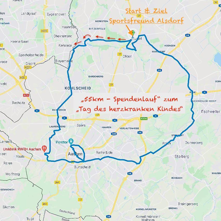 55-km-Herzlauf 2021 - 05.05.2021 ab 10:30 Uhr mit Marco